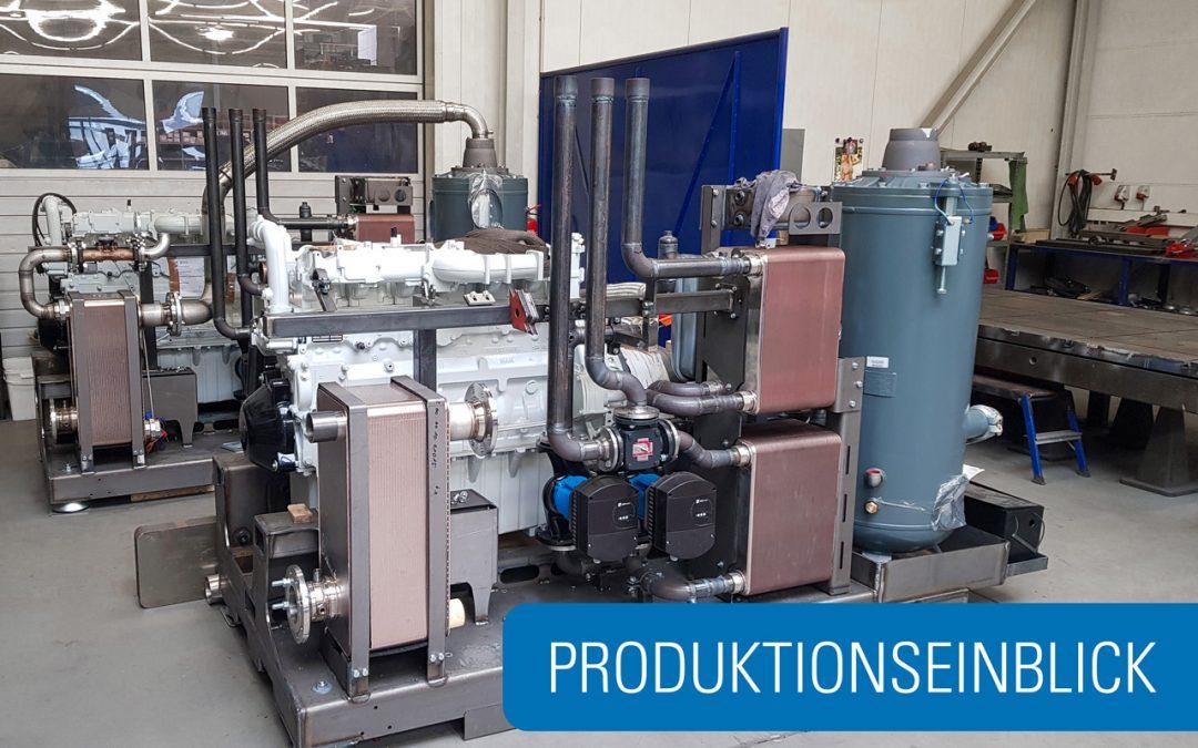 Produktionseinblick: Montage Druckluftheizkraftwerke der Taifun-Klasse