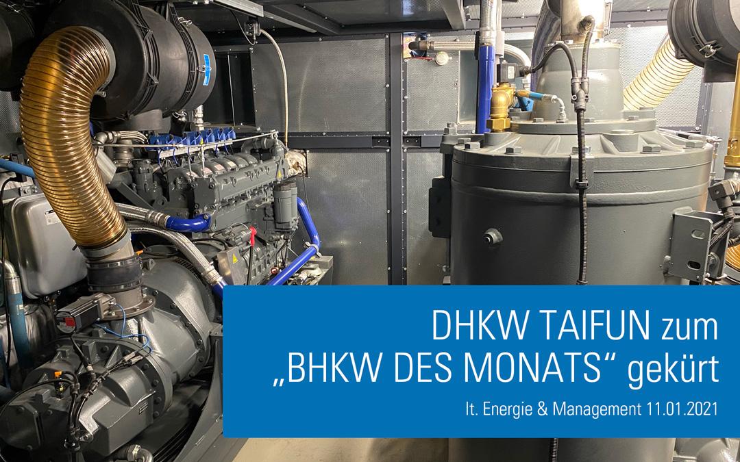 """DHKW Taifun zum """"BHKW des Monats"""" gekürt"""